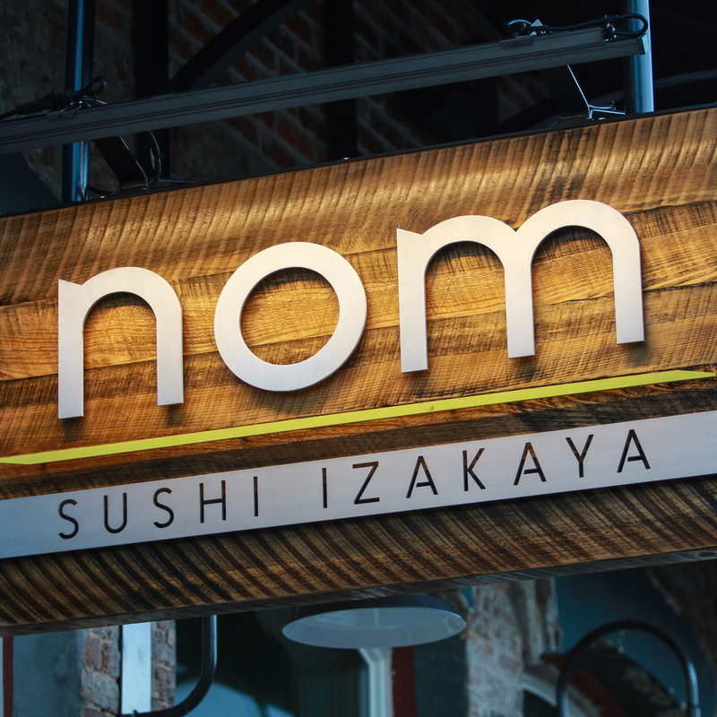 nom sushi izakaya in the SoGo neighborhood of downtown pensacola